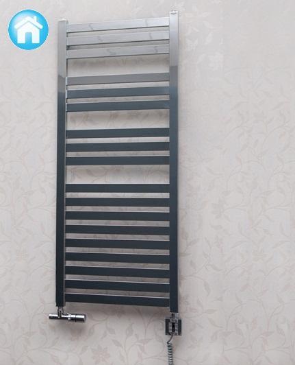 Bathroom towel radiator Terma Manta - 1280x540 589W. White